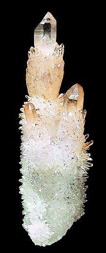 """""""Cactus"""" cluster of Quartz var. Citrine crystals."""