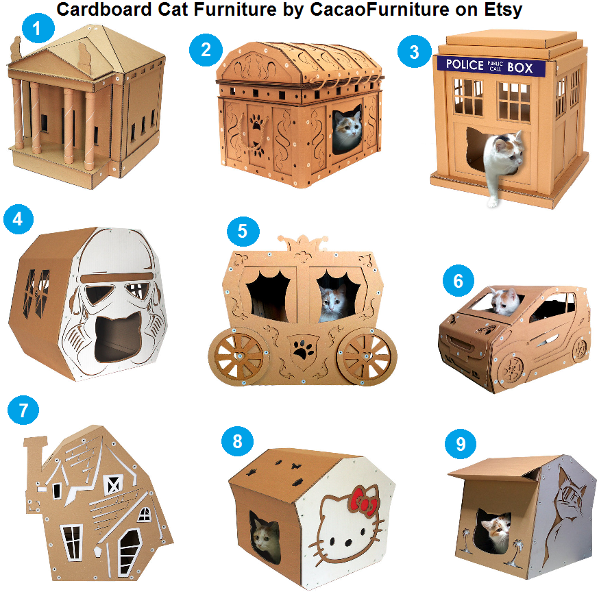 Cardboard cat furniture by cacaofurniture arranhador for Mobilia 972