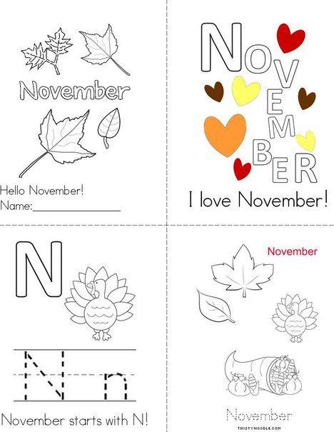 Hello November Book From Twistynoodle Com Fall Preschool Activities Homeschool Kindergarten Preschool Learning