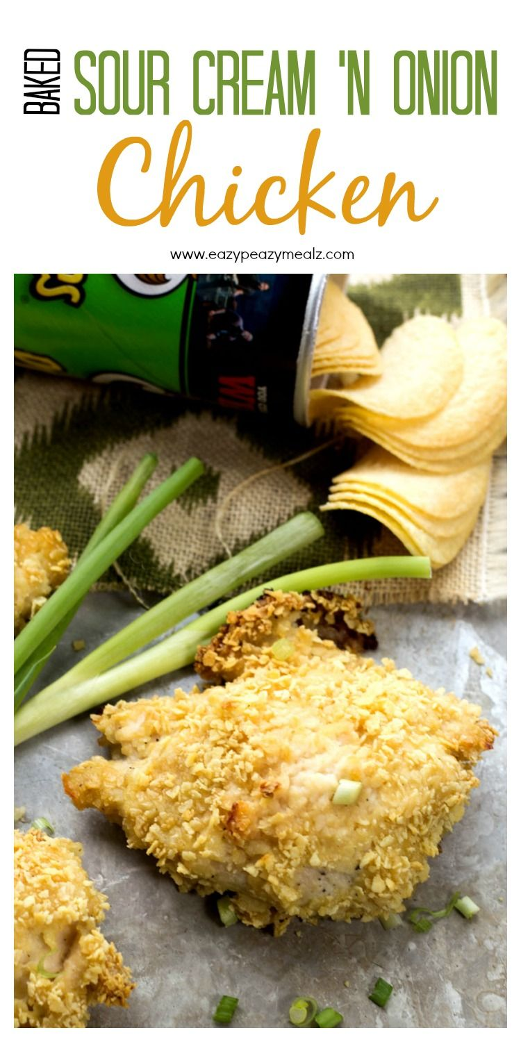 Baked Sour Cream And Onion Chicken Easy Peasy Meals Recipe Sour Cream And Onion Food Onion Chicken