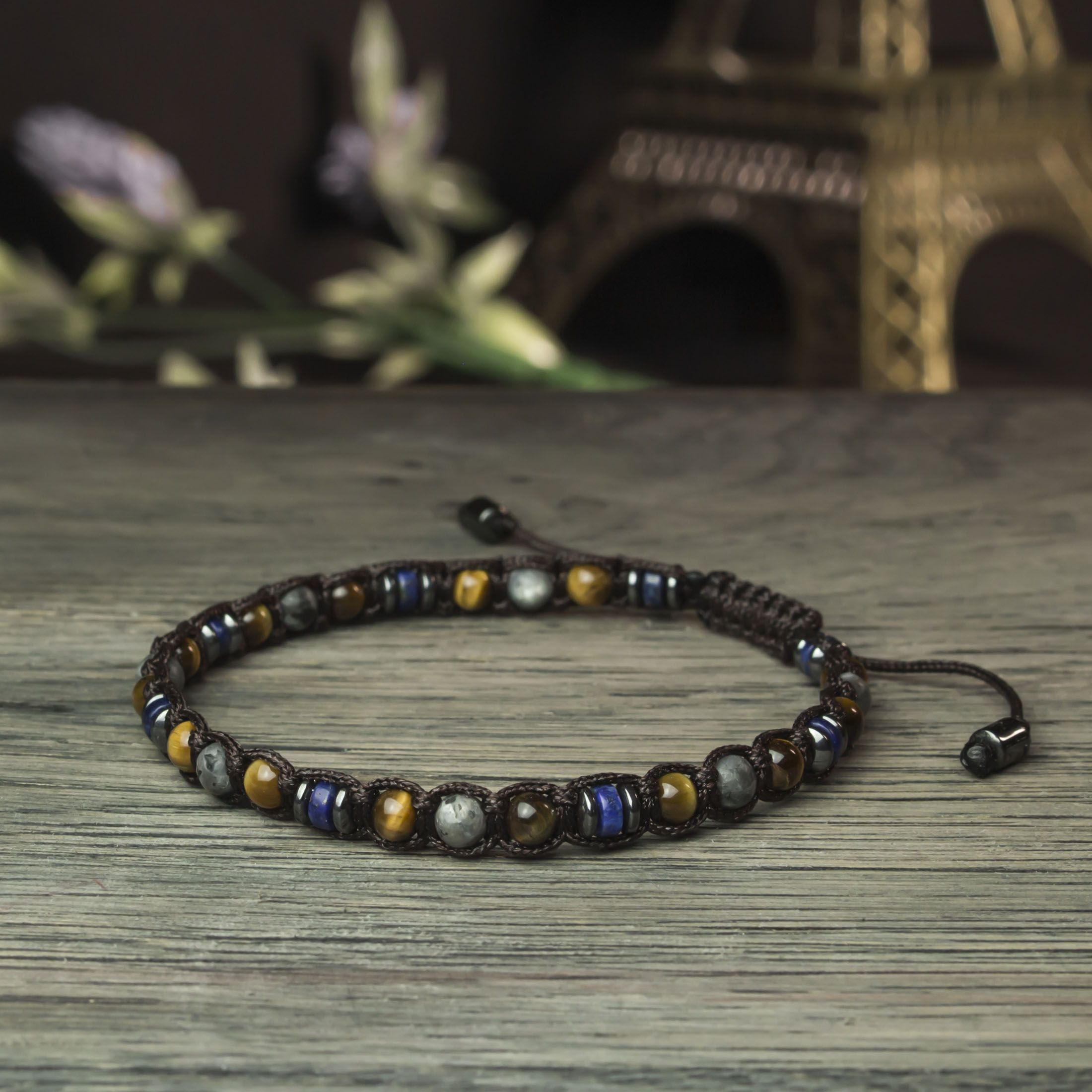 "Pretty 8 mm Natural Black Agate Onyx Ronde Pierres Précieuses Perles Bracelet Bangle 7.5/"""