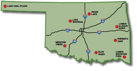 Trout area information oklahoma fishing guide for Oklahoma fishing guide