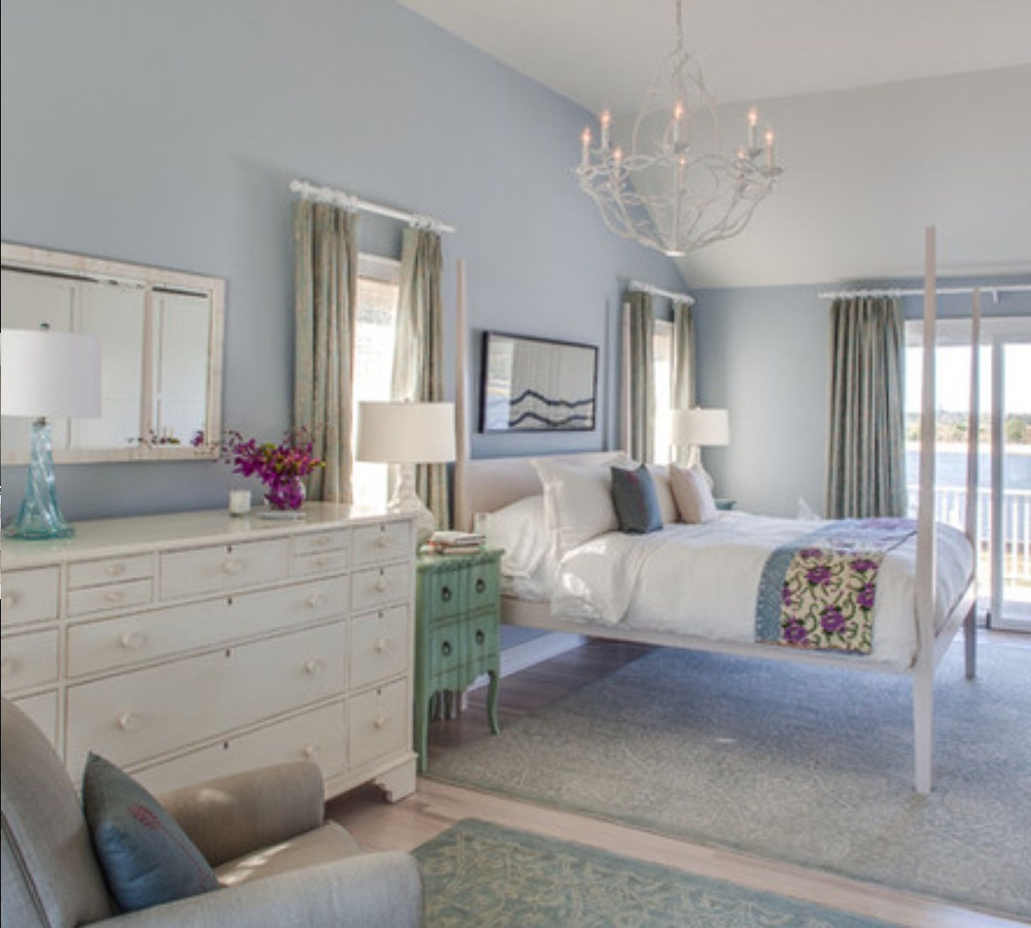 Sumptuous Bedroom Inspiration In Shades Of Silver: Benjamin Moores Silver Gray...considering This Gray With