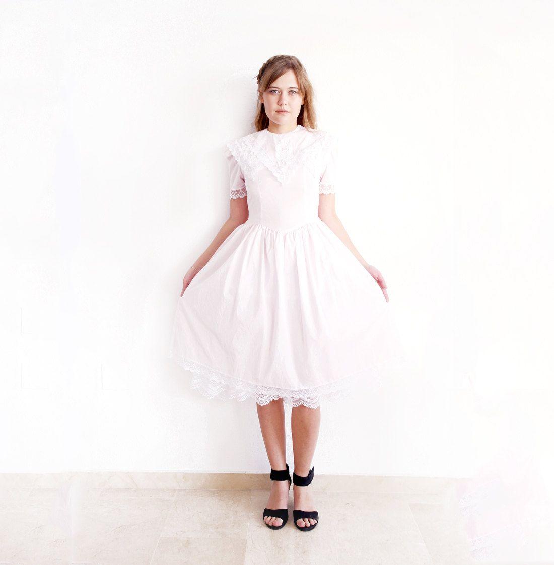 80s Gunne Sax Lace Dress Jessica McClintock 1980s by MjauVintage