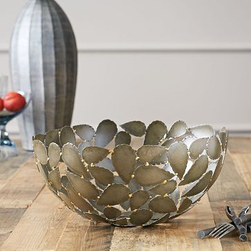 Metal Leaf Decorative Bowl From West Elm Looks Like Opuntia Pads