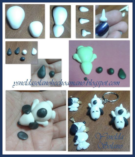 Como Realizar A Snoopy En Porcelana Fría Masa Flexible Manualidades Masa Flexible Paso A Paso Y Porcelana Fría