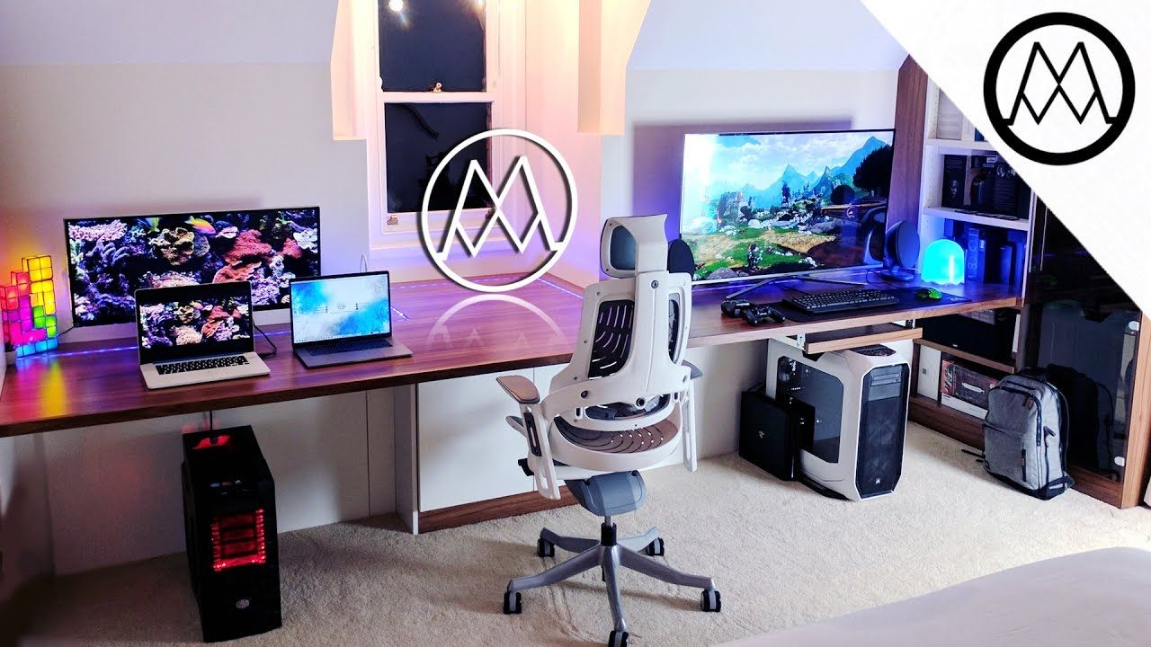 Ultimate Gaming Desk ultimate $15000 gaming setup desk tour 2017!   gaming   pinterest