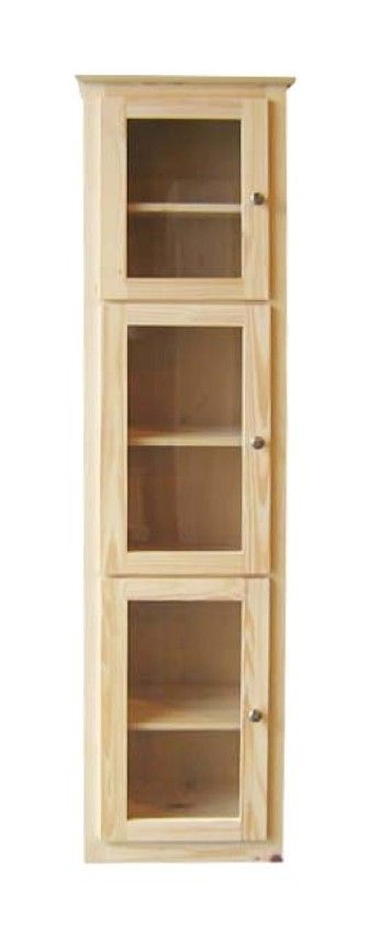 Get this with glass doors wooden doors or a combination of both! Only from Bridgetown Furniture.  sc 1 st  Pinterest & Tall u0026 Slim. Get this with glass doors wooden doors or a ... pezcame.com