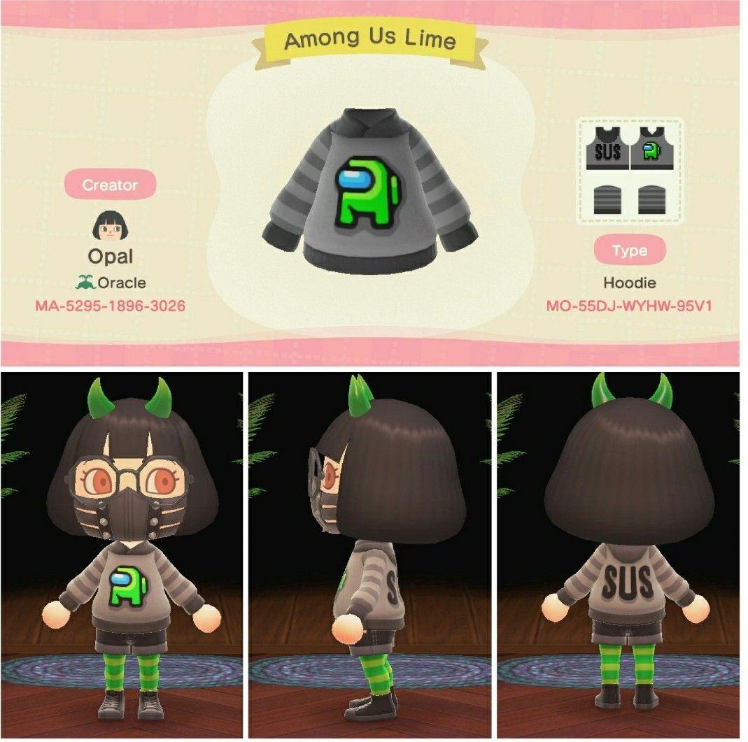 Acnh Among Us Sweater Design Animal Crossing Animal Crossing Game New Animal Crossing