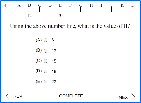 SAT Math Blast – 21 (Number Line Problems- All Levels) - A