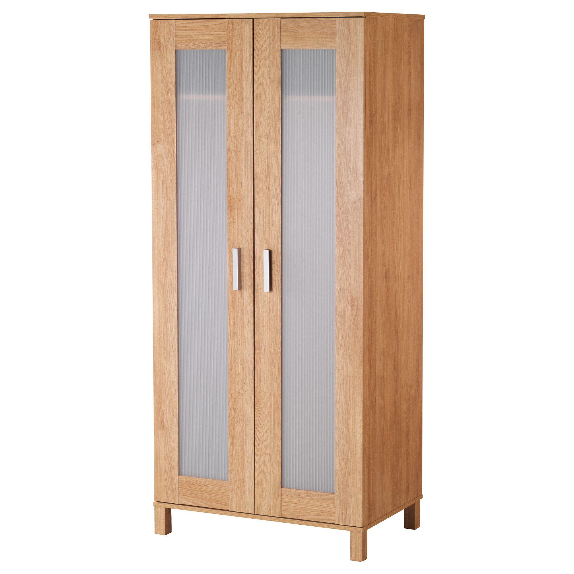 How To Make A Free Standing Wardrobe With Sliding Doors: AUSTMARKA Wardrobe - Birch Effect - IKEA