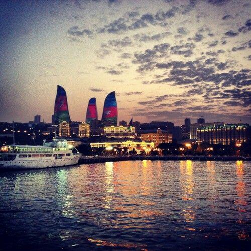 Baku Azerbaijan Shore Of Caspian Sea Beautiful Destinations Tourist Destinations Azerbaijan