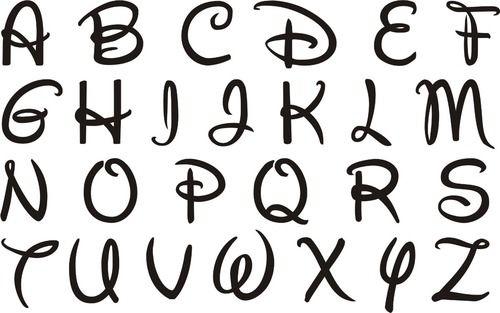 Imagen de disney, abecedario, and letras