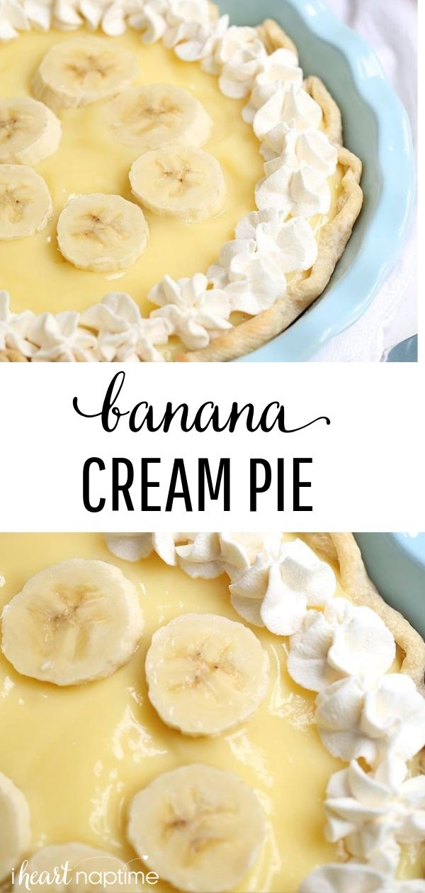 EASY Banana Cream Pie (just 5 ingredients!)