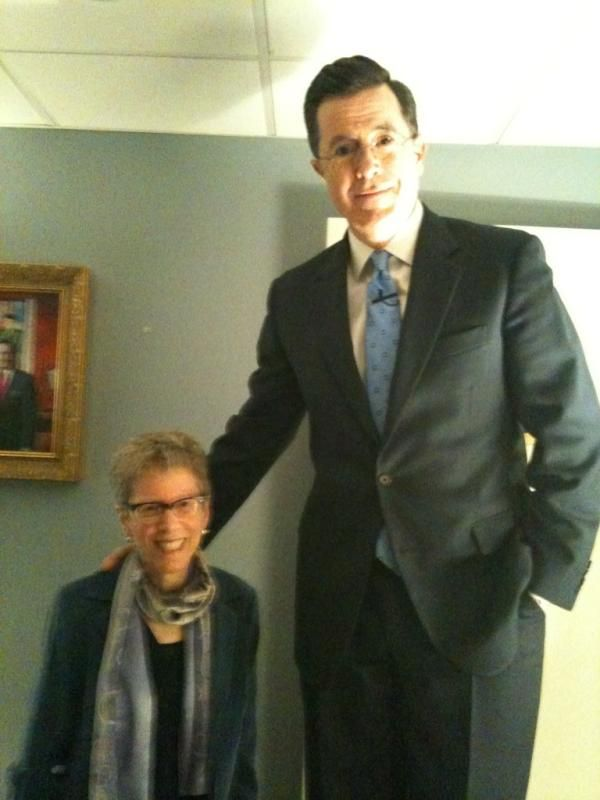 Fresh Air's Terry Gross with Stephen Colbert