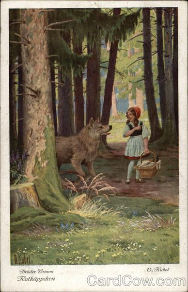 Grimm Fairy Tales Little Red Riding Hood Rotkäppchen. B...