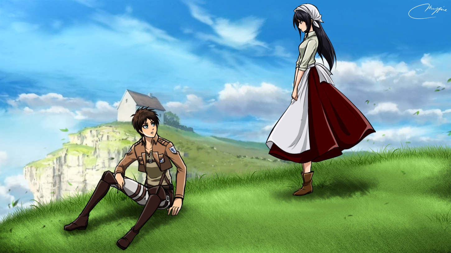 In The Hill Eren X Baker Veena By Vhenyfire On Deviantart Attack On Titan Attack On Titan Anime Attack On Titan Funny