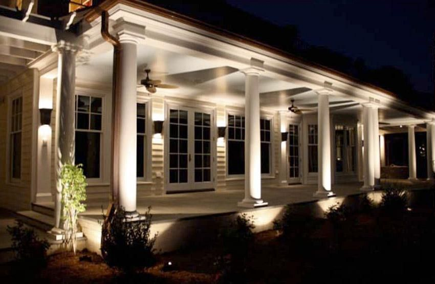 pin by alina teodor on landscape lighting front porch on awesome deck patio outdoor lighting ideas that lighten up your space id=48123