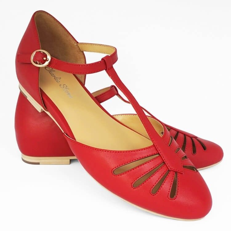 Charlie Stone Shoes Singapore Flats Red Vintage Flats
