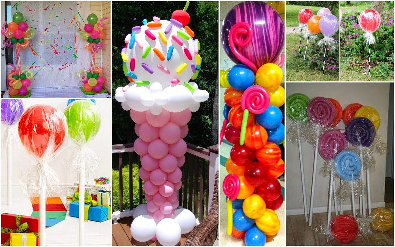 Candy Themed Balloons Athena Mielu0027s Balloons Bubbles