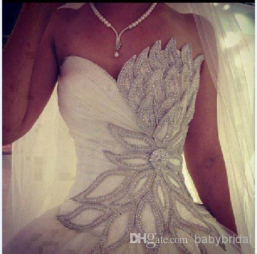 Bling Bling A Linie Tüll Hochzeit Kleider Vestidos Mit Sweetheart ...