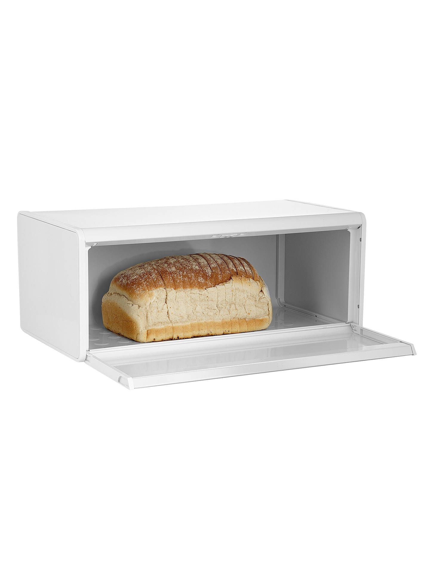 Brabantia Fall Front Bread Bin, White