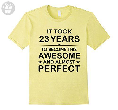 Mens Twenty Three 23 Year Old 23rd Birthday Gift Ideas Her Him Medium Lemon