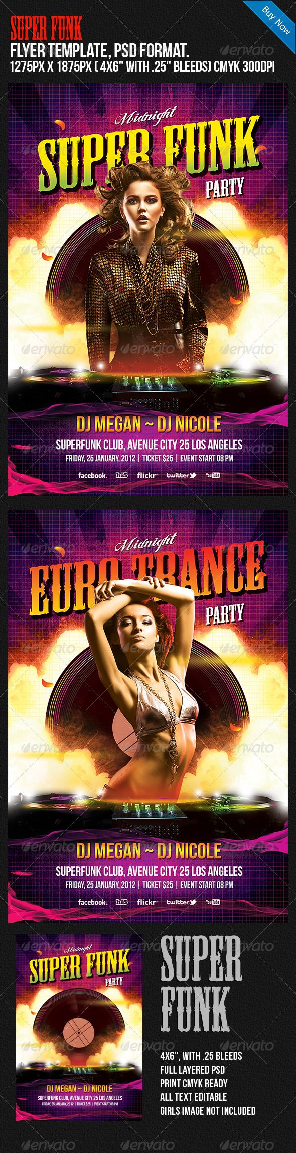 Super Funk Night Club Disco Party Flyer. Professional club party flyer template. #flyer #design #printDesign #party #club #print #bright #colourful #disco #dj #electro #event #funk #HipHop #HouseMusic #magenta #midnight #modern #music #nightclub #orange #pink #poster #promo #publication #r&b #red #stylish #trance #yellow #young
