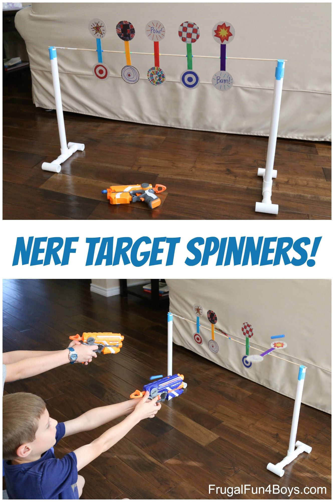 How to Make a Nerf Spinning Tar Nerf PartyParty GamesBored
