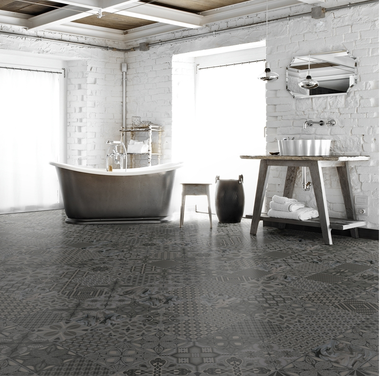 Decorative Tiles Melbourne Perini Tiles 'salima Art Grafito' Patterned Floor Tiles