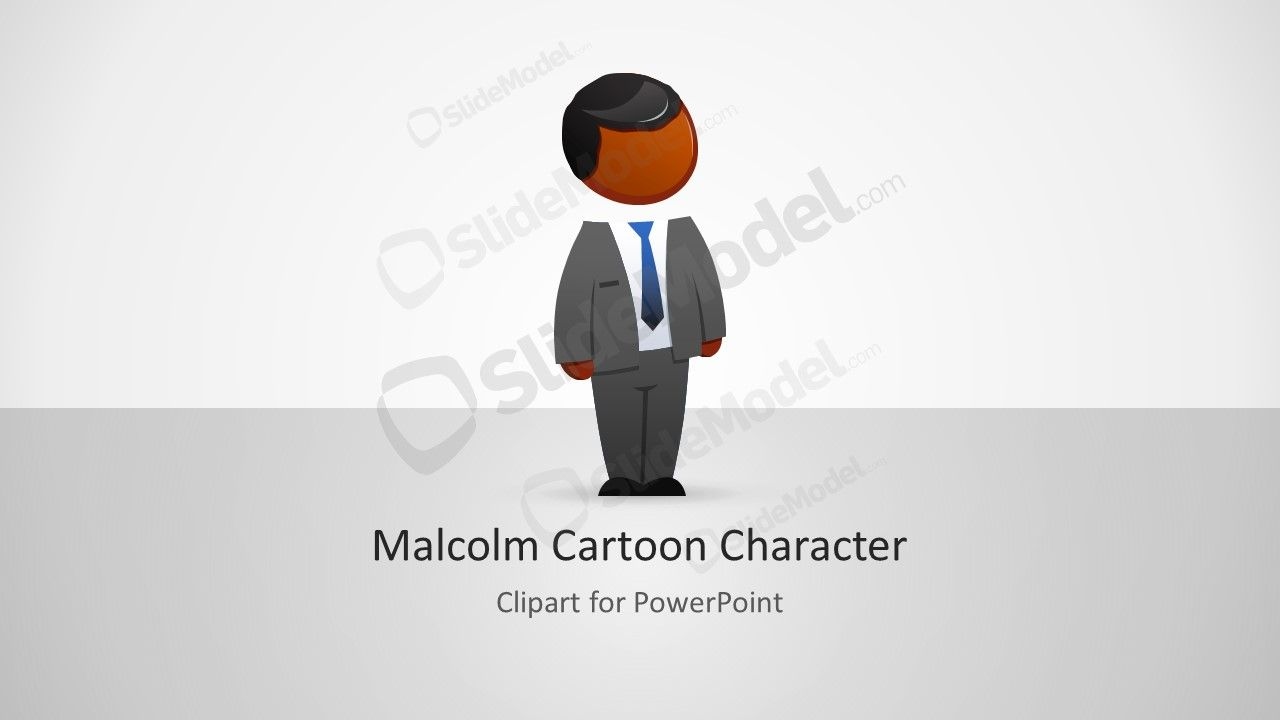 Malcolm Character Clipart For Powerpoint Slidemodel Cartoon Character Clipart Powerpoint Character