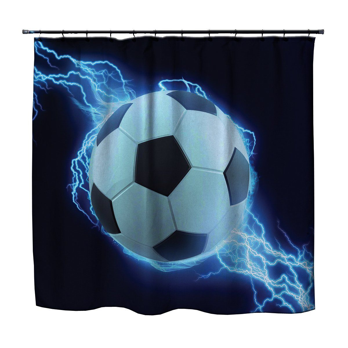 Soccer Shower Curtain Lightning From Kids Bedding Company