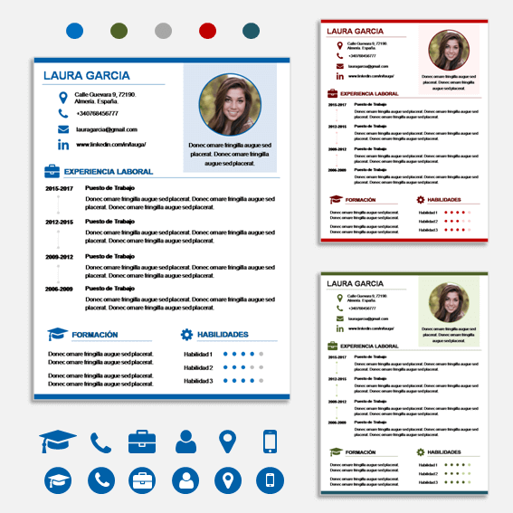 plantilla de curriculum vitae word y power point