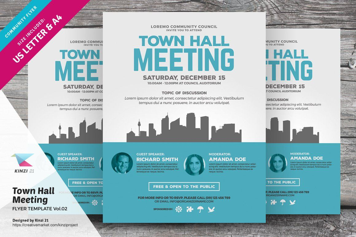 Town Hall Meeting Flyer Bundle Town Hall Meeting Town Hall Flyer