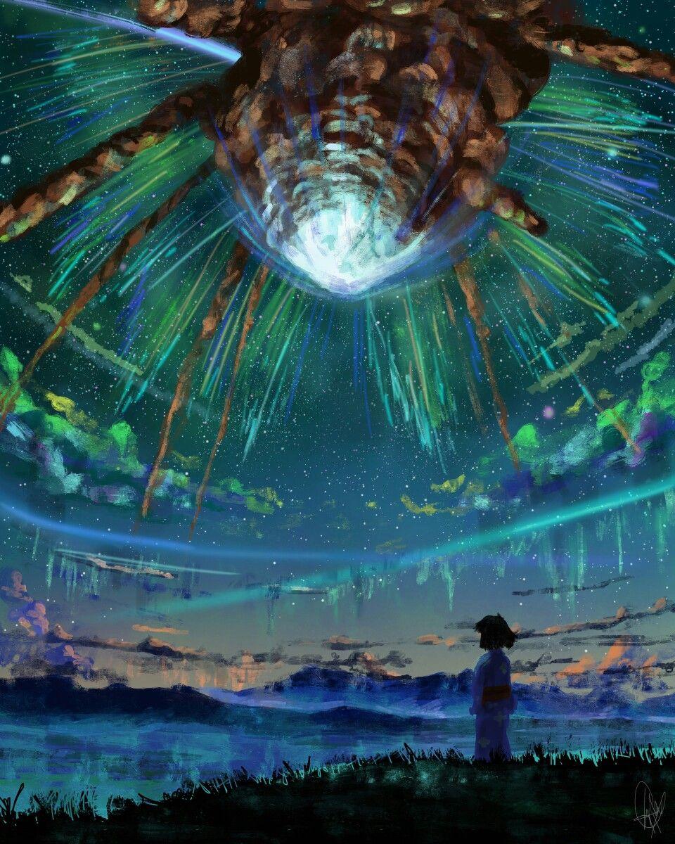 Kimi no nawa comet collision scene World wallpaper, Kimi