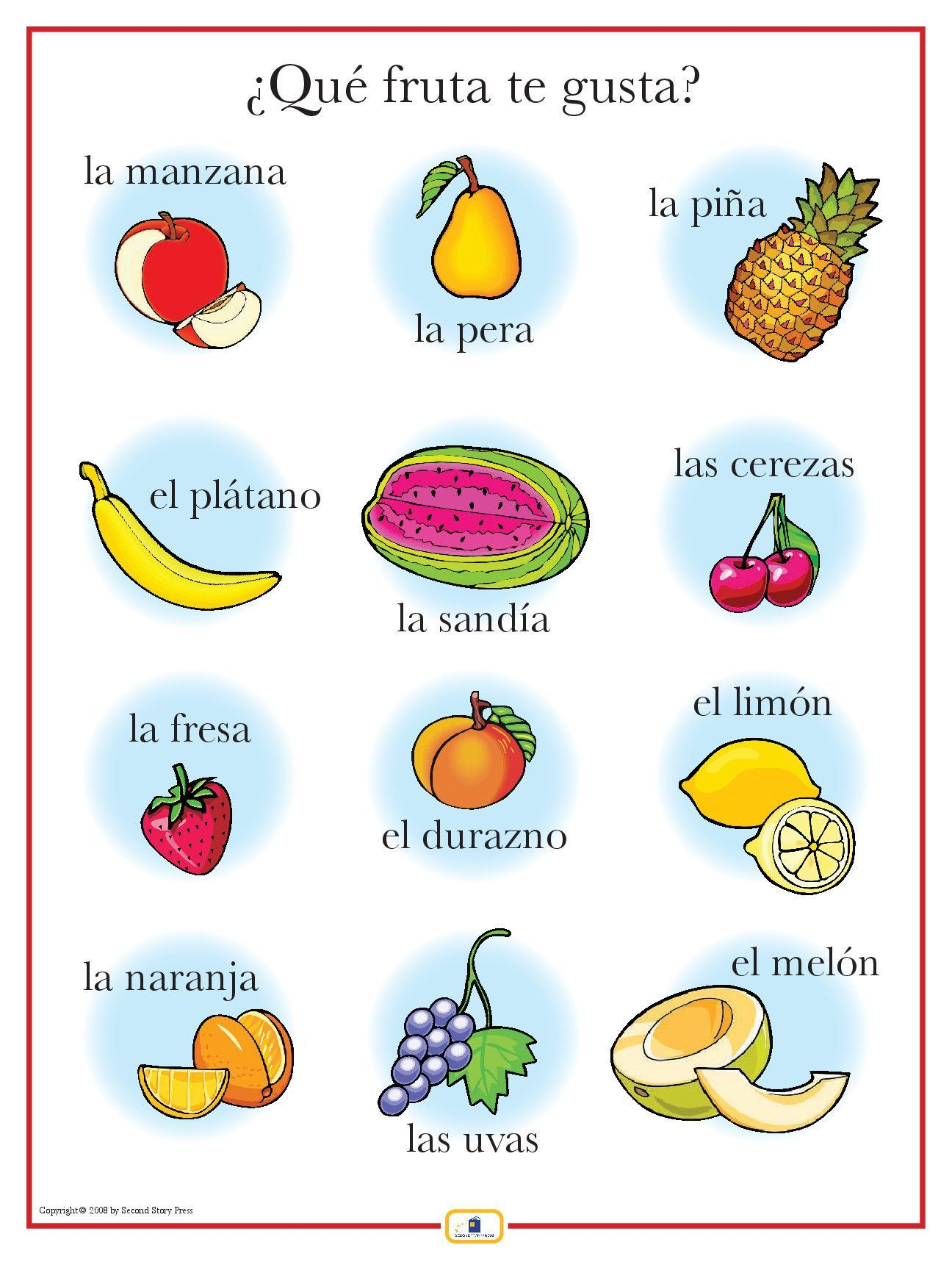 Introduce Fruits With This Colorful 18 X 24 In Poster That Includes A Free Guide With Teaching