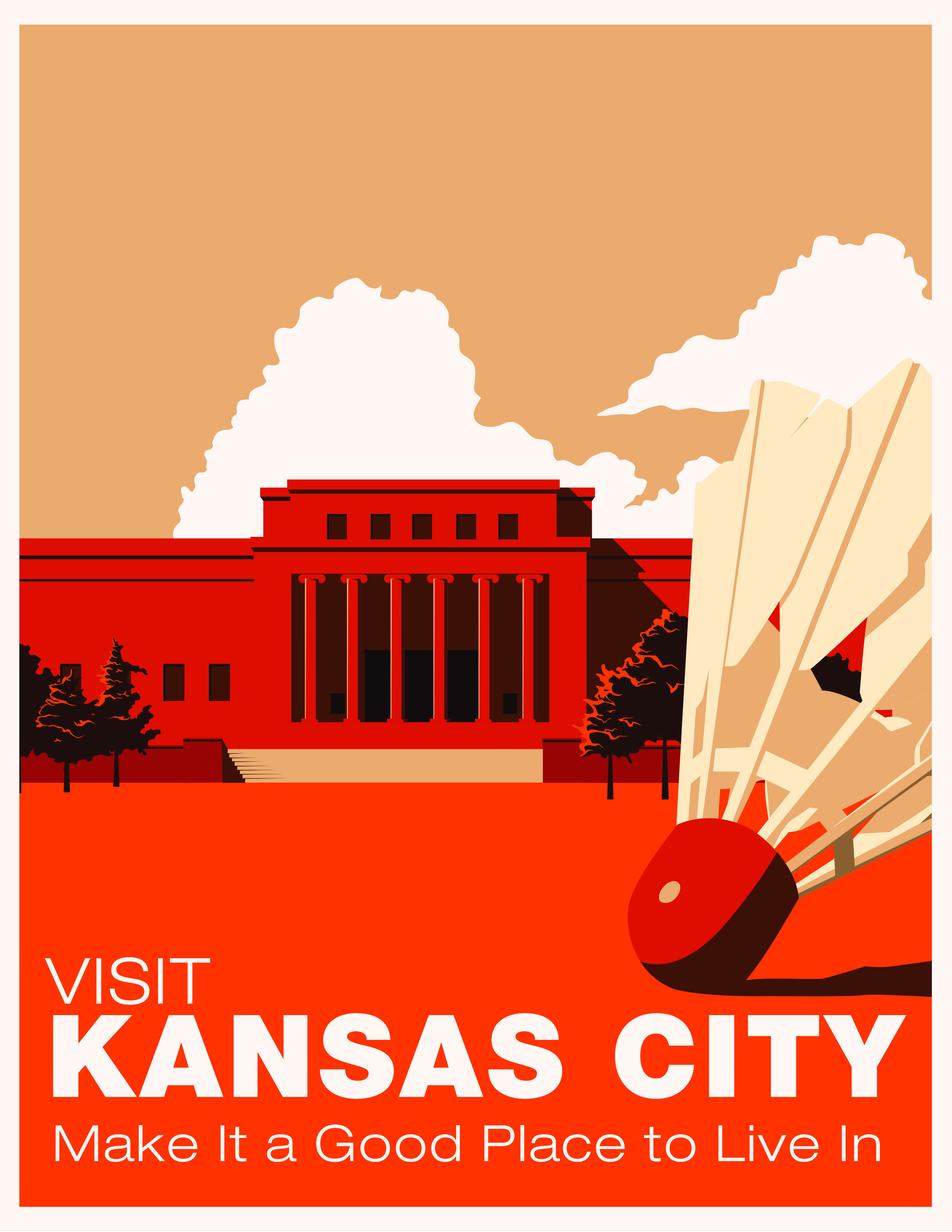 A Travel Poster Encouraging A Visit To Kansas City Travel Posters Travel Poster Design Tourism Poster