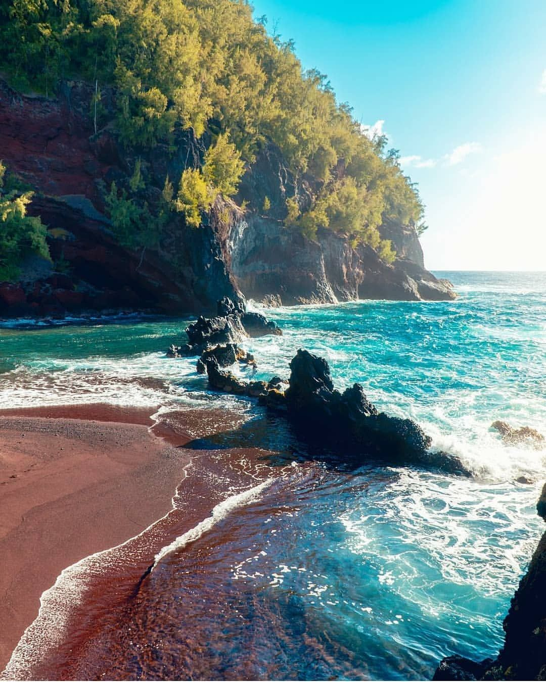 Maui Hawaii Beaches: Dreaming In Color. Red Sand Beach. Maui, Hawaii Photo By