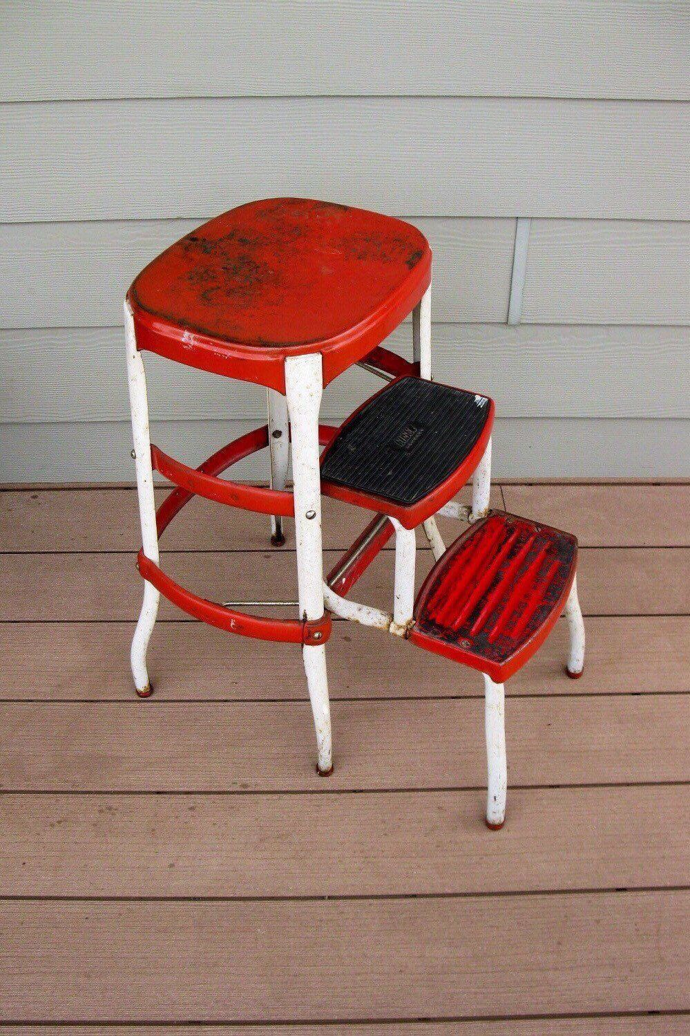 Marvelous Shabby Metal Cosco Stool Chair Red Childs Stool Step Gmtry Best Dining Table And Chair Ideas Images Gmtryco