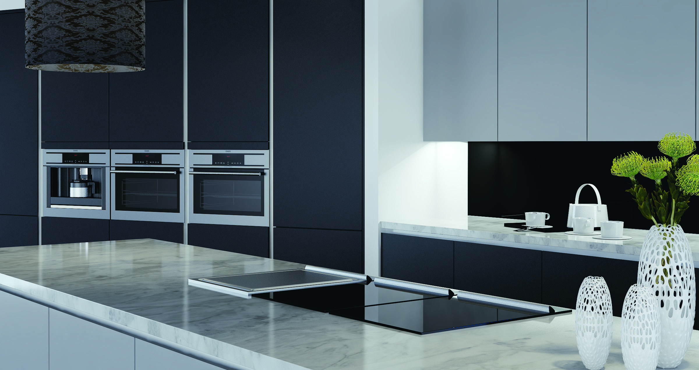 Linear Avant  Shown Here In Anthracite U0026 Dove Grey Avantu0027s Base Cabinet  Doors And Drawers