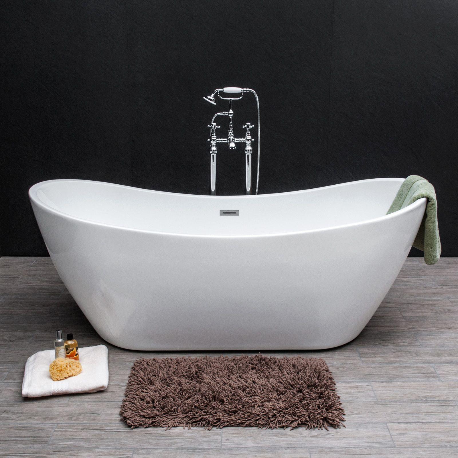 Savisto Monza Roll Top Freestanding Double Ended Slipper Bath Tub ...