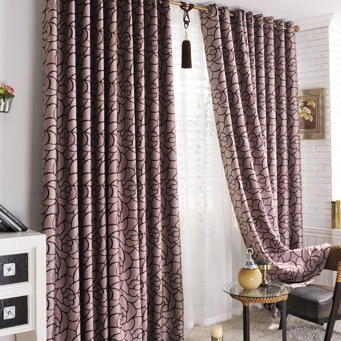 purple curtains for bedroom fancy curtain kids solid color gradient ...