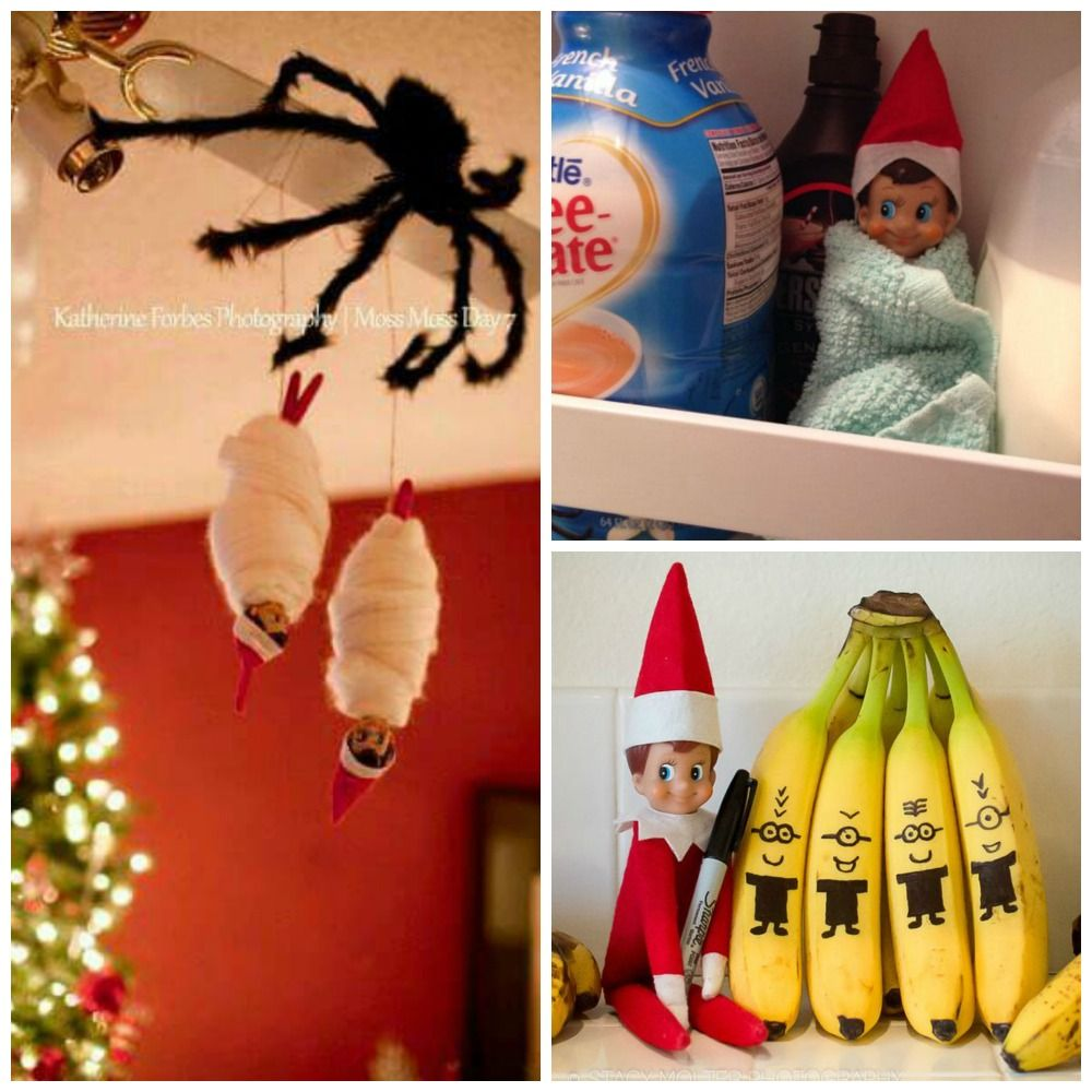 30 Quick & Easy Elf on the Shelf Ideas For Busy Parents