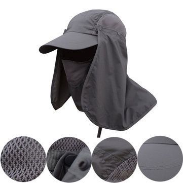 Mens Quick Dry Neck Cover Sun Fishing Hat Ear Flap Bucket Outdoor Uv Protection Cap Outdoor Hats Fishing Hat Visor Hats