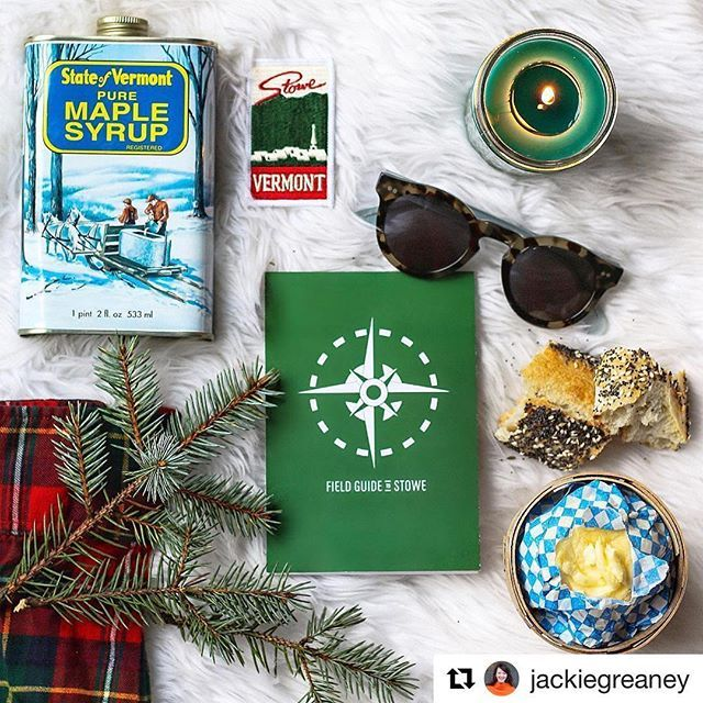 Some great finds by @jackiegreaney on her Stowe adventures this weekend!  #fieldguidestowe #larkhotels #gostowe #vermont #stowe #repost #maplesyrup