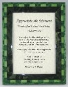 Italian Wood Inlay Picture Frame - Green, 5x7