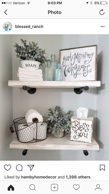 Rustikale Bauernhaus-Einrichtungsideen für Ihr Badezimmer. Einfache und einzigartige Ideen, um schöne ... #rusticbathroomdesigns