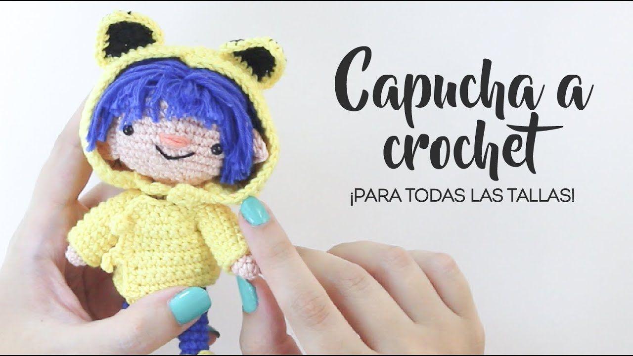 Cómo hacer una capucha a crochet - ¡Todas las tallas! | DUENDE DE ...