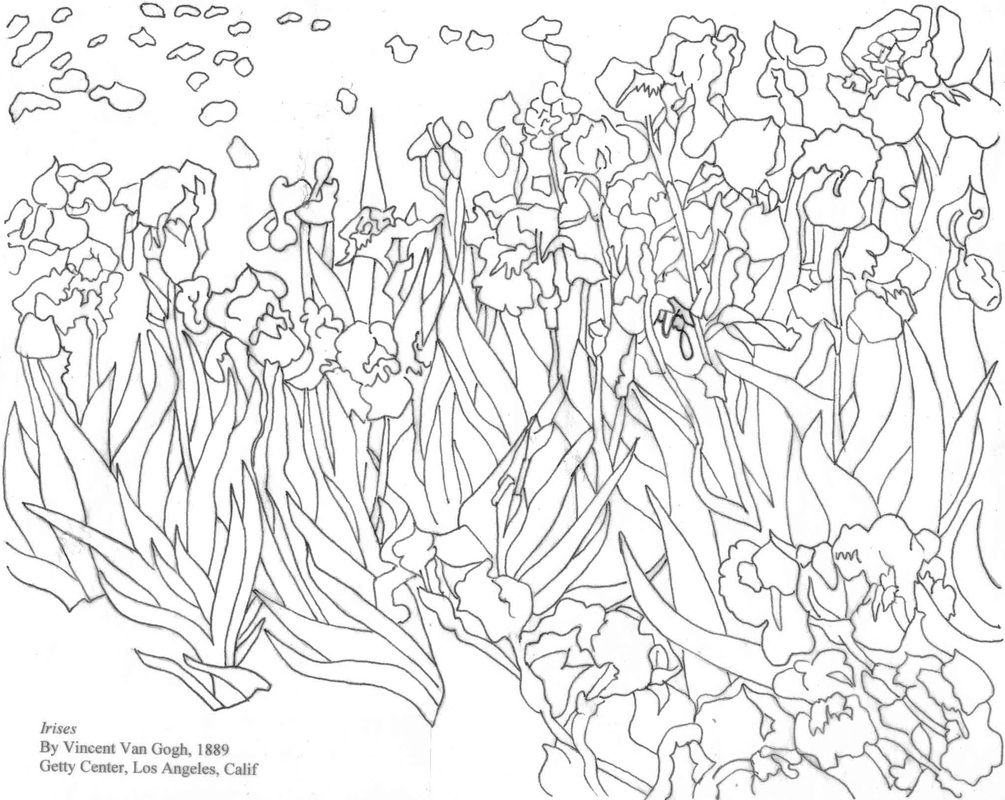 Http Colorine Net Wp Content Uploads Van Gogh Coloring Pages 287911 Jpg Kleurboek Kunstprojecten Kleurplaten