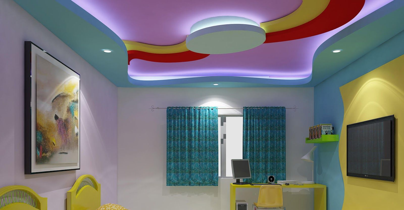Pin By Mohamed Elmakky On Three Beds False Ceiling Design
